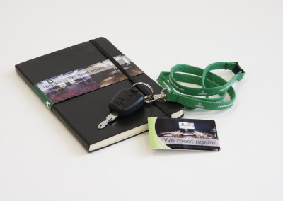Notitieblok, Keycord en USB Hampshire