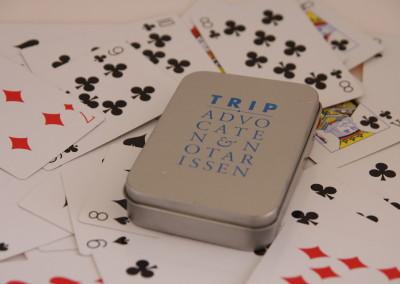 Kaartspel in blik TRIP
